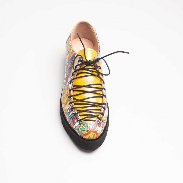 Pantofi Boom din piele naturala