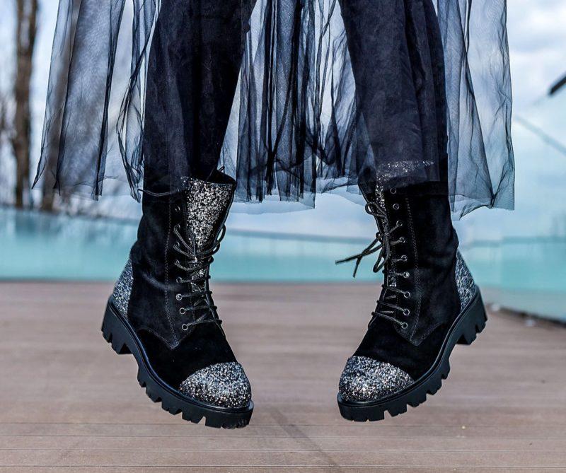 Ghete dama Bling Black by Ana Odagiu