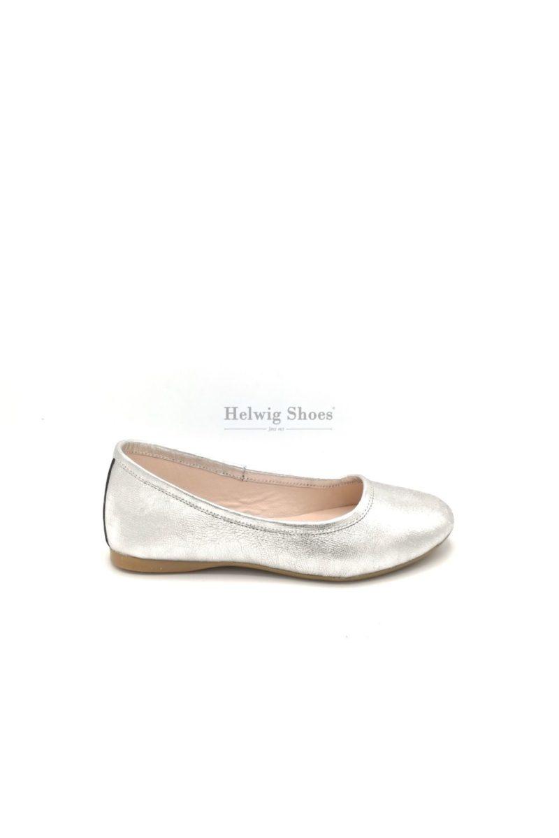Balerini comezi, argintii din piele naturala