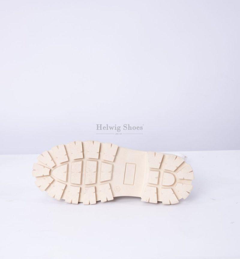 Ghete albe din piele naturala si material strech