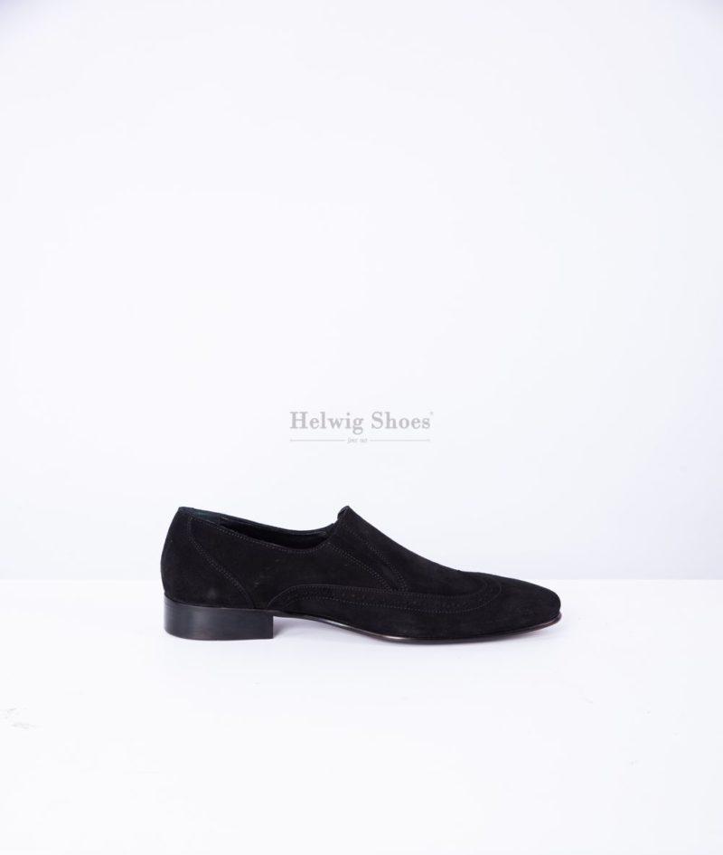Pantofi barbat piele intoarsa cu model