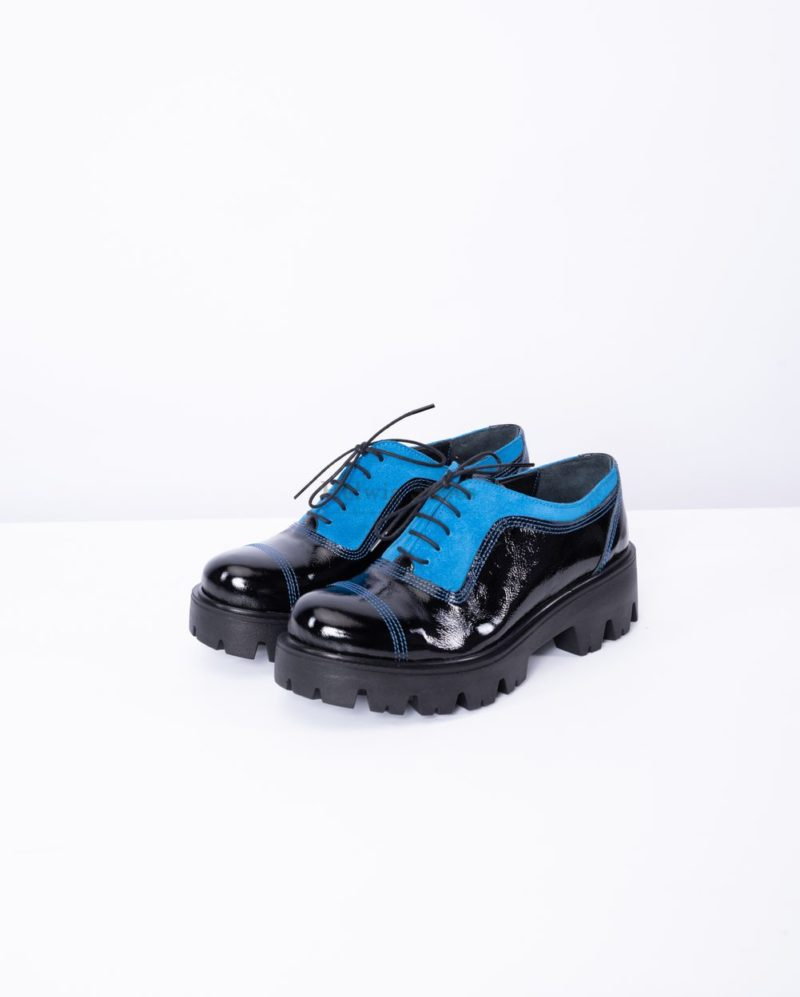 Pantofi dama din piele naturala cu piele intoarsa