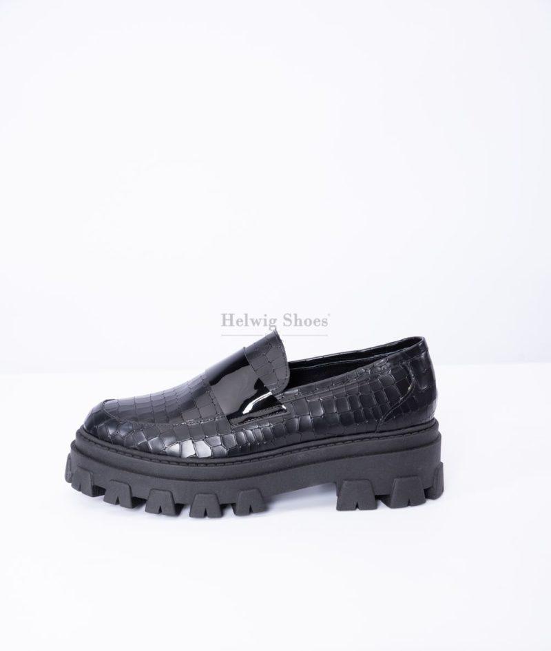 Pantofi dama din piele naturala model croco