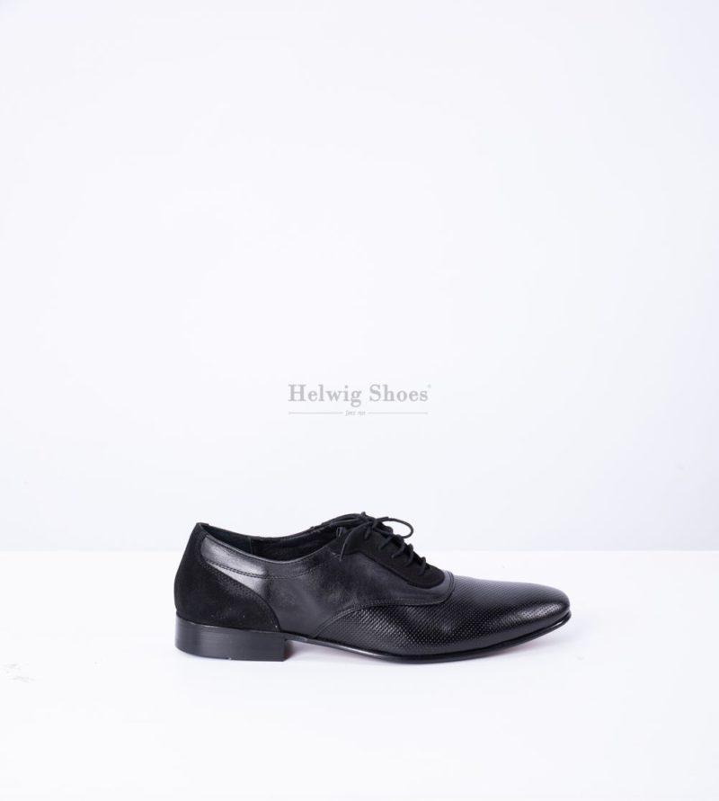 Pantofi barbati piele naturala perforata cu piele intoarsa