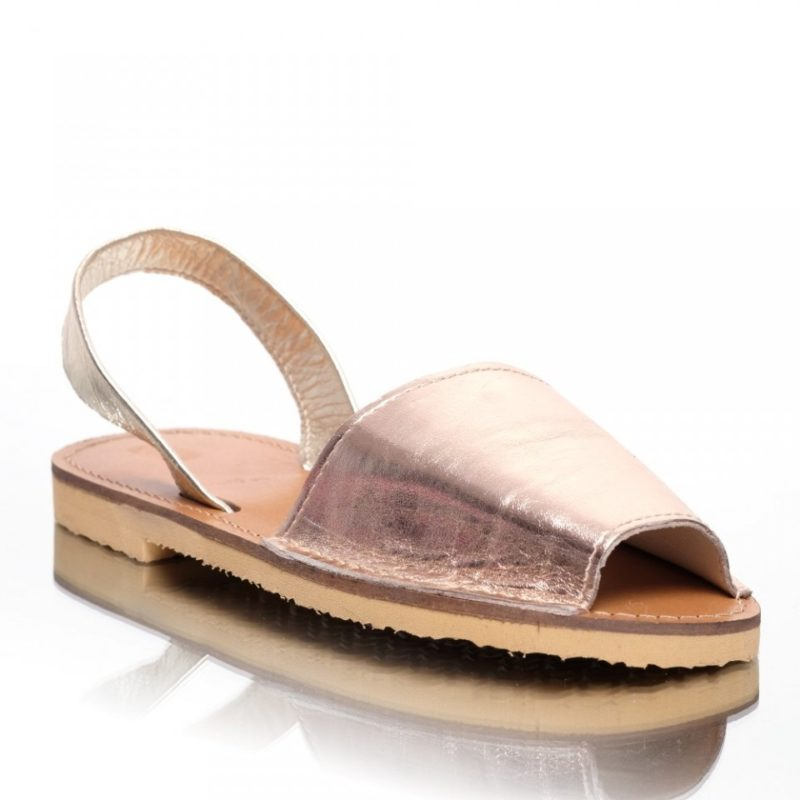 Sandale din piele naturala nude-rose