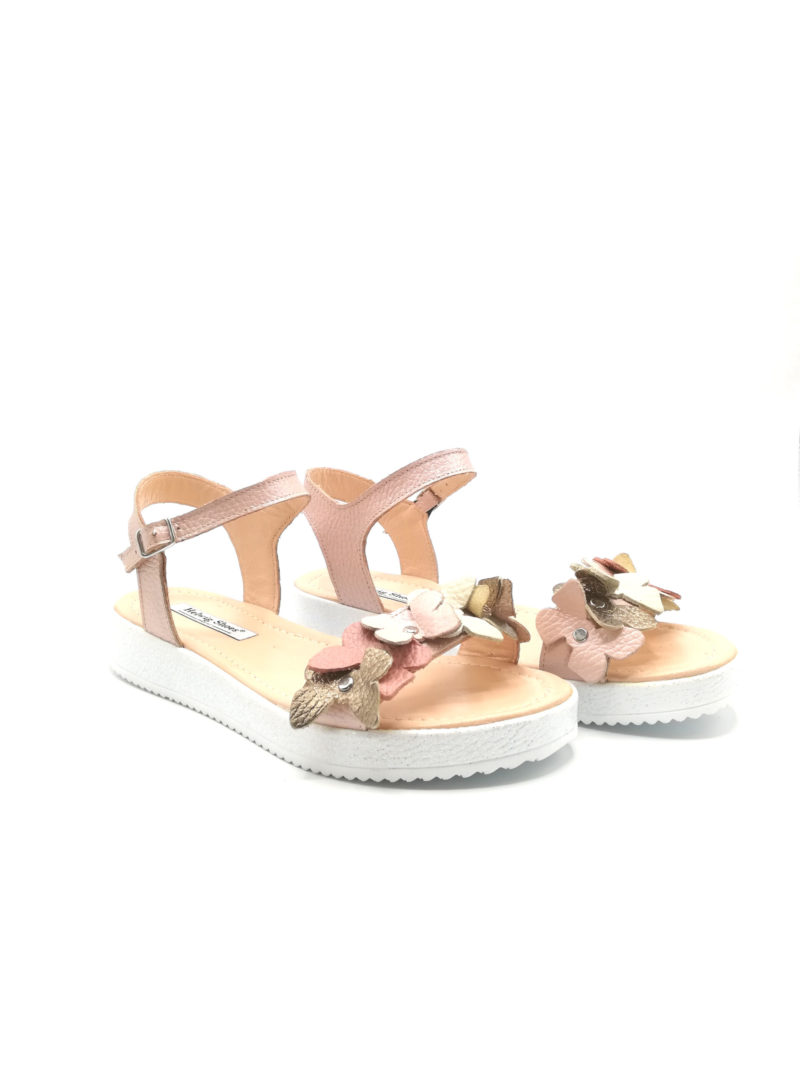 Sandale nude din piele naturala